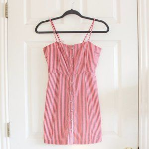 Forever 21 Red and White Striped Mini Dress